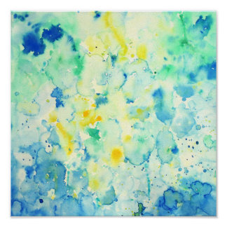 Watercolor Abstract Green Print