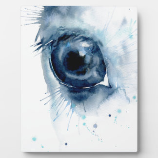 Watercolor Abstract Horse Eye Photo Plaques