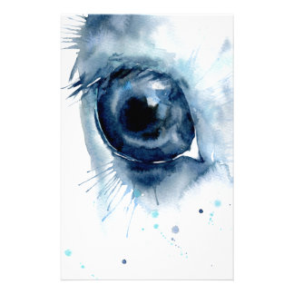 Watercolor Abstract Horse Eye Stationery