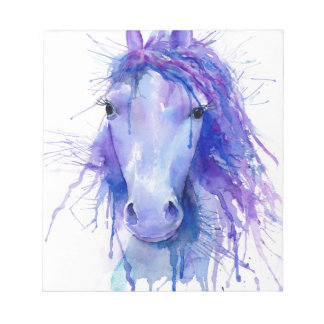 Watercolor abstract horse portrait notepad
