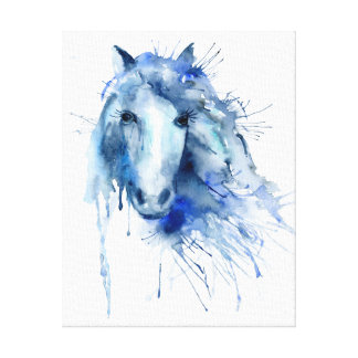 Watercolor Abstract Horse Portrait Print
