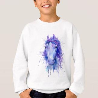 Watercolor abstract horse portrait sweatshirt