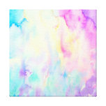 Watercolor abstract Landscape blue purple canvas Canvas Print