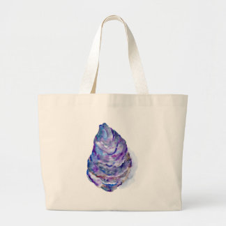 Watercolor abstract Oyster Shell Large Tote Bag