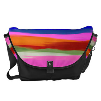 Watercolor Abstract Pattern 20 Courier Bag