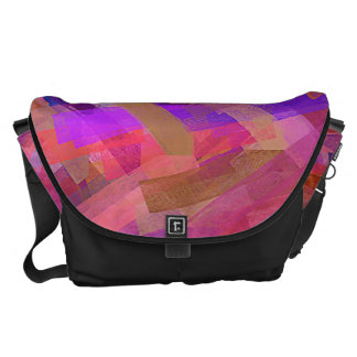 Watercolor Abstract Pattern 21 Courier Bags