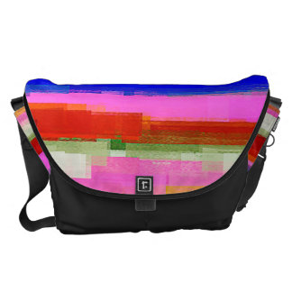 Watercolor Abstract Pattern 22 Courier Bag
