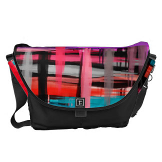 Watercolor Abstract Pattern 30 Courier Bag