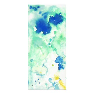 Watercolor abstract Pattern Bookmark Rack Card