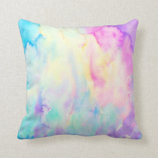 Watercolor Abstract Pattern Pillow