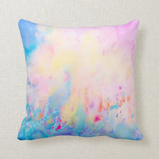 Watercolor Abstract Pattern Pillow Throw Cushion