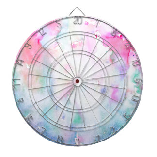 Watercolor Abstract Pink Pattern, Pink Forest Dart Board