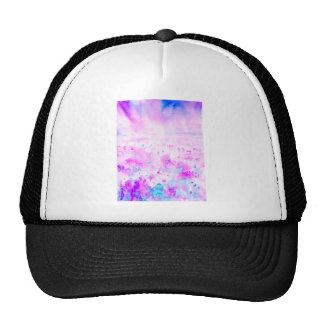 Watercolor Abstract Purple Meadow Cap