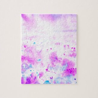 Watercolor Abstract Purple Meadow Jigsaw Puzzle