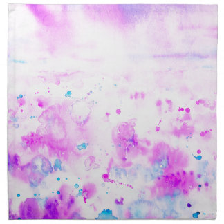 Watercolor Abstract Purple Meadow Napkin