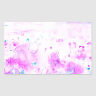 Watercolor Abstract Purple Meadow Rectangular Sticker