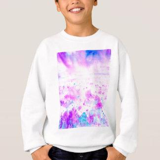 Watercolor Abstract Purple Meadow Sweatshirt