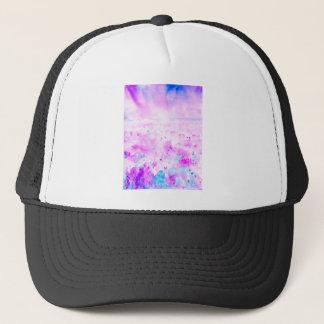 Watercolor Abstract Purple Meadow Trucker Hat
