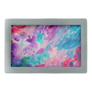 Watercolor Abstract Sea Belt Buckle