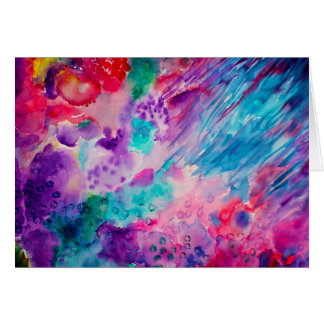 Watercolor Abstract Sea Card