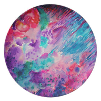 Watercolor Abstract Sea Plate