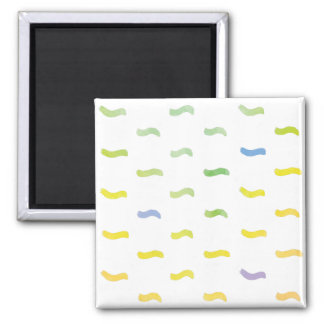 Watercolor Abstract Spring Pattern Square Magnet
