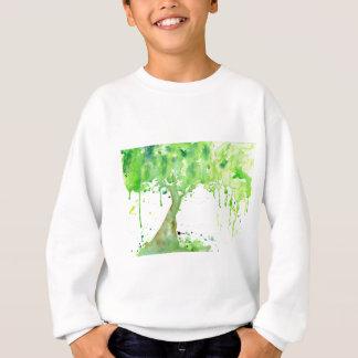 Watercolor abstract spring tree, green tree canopy sweatshirt