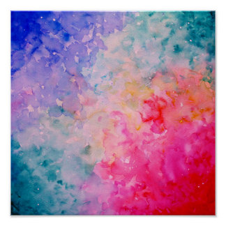 Watercolor Abstract Universe Print