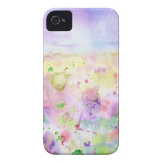 Watercolor abstract wildflower meadow painting iPhone 4 case