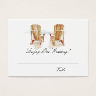 Watercolor Adirondack Chairs | Escort Cards
