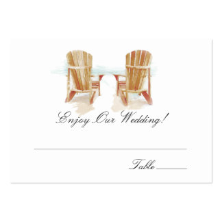 Watercolor Adirondack Chairs | Escort Cards Pack Of Chubby Business Cards