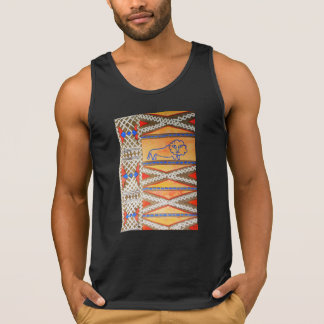 Watercolor African inspired lion Singlet