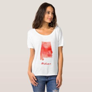 Watercolor Alabama United States T-Shirt