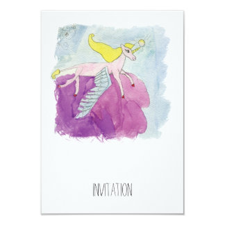 Watercolor Alicorn Pony Winged Horse Card