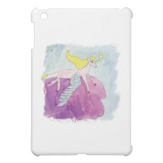 Watercolor Alicorn Pony Winged Horse iPad Mini Cover