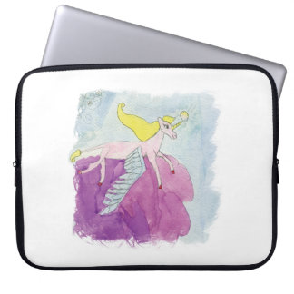 Watercolor Alicorn Pony Winged Horse Laptop Sleeve