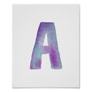 Monogram posters from Zazzle