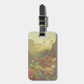 Watercolor Alpine Flowers Luggage Tag
