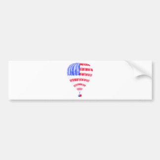 Watercolor American Flag Air Balloon Bumper Sticker