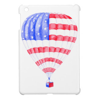 Watercolor American Flag Air Balloon iPad Mini Cases