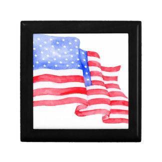 Watercolor American Flag Gift Box