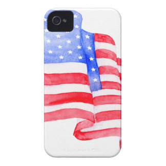 Watercolor American Flag iPhone 4 Covers