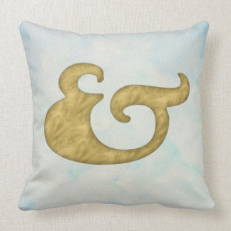 Watercolor Ampersand Nautical | Gold for API Cushion