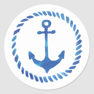 Watercolor Anchor Sticker