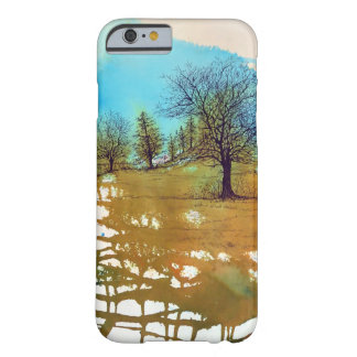 Watercolor and Inked Trees Landscape Art Barely There iPhone 6 Case