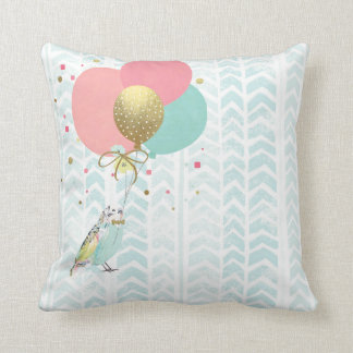 Watercolor Animal Prints Nursery Pillow