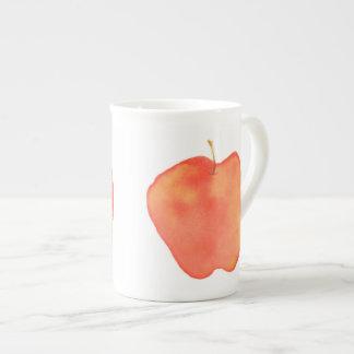 Watercolor Apple Bone China Mug