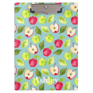Watercolor Apples Pattern Clipboard