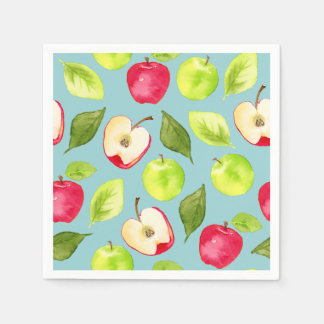 Watercolor Apples Pattern Disposable Napkins