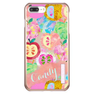 Watercolor Apples Pattern Personalized Incipio DualPro Shine iPhone 8 Plus/7 Plus Case